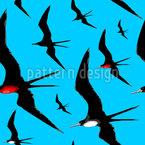Fregattvögel Nahtloses Vektormuster