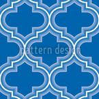 Retro Marokko Blau Rapportmuster