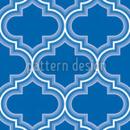 Retro Morocco Blue Seamless Vector Pattern Design