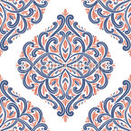 Elegant Damask Seamless Vector Pattern Design