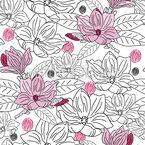 Doodled Magnolia Pattern Design