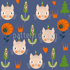 Cat-Unicorns Seamless Vector Pattern