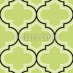 Retro Morocco Green Seamless Vector Pattern Design