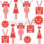 Robot Friends Repeating Pattern