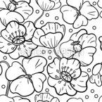 Botões De Papoulas Design de padrão vetorial sem costura