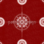 Wind Rose And Compass Seamless Vector Pattern Design