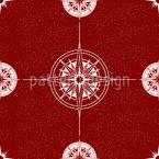 Windrose und Kompass Nahtloses Vektormuster