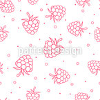 Raspberry Seamless Vector Pattern Design