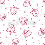 Erdbeere Nahtloses Vektormuster