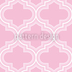 Retro Morocco Pink Seamless Vector Pattern Design