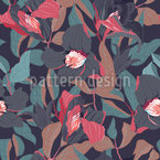 Clematis Dreams Seamless Vector Pattern Design