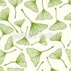Ginkgo-Blätter Nahtloses Vektormuster
