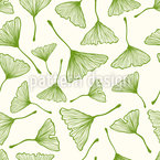 Ginkgo Leafs Repeating Pattern