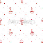 Toadstools Seamless Vector Pattern Design