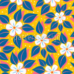 Grafische Blüte Designmuster