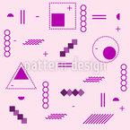 Memphis Estática Design de padrão vetorial sem costura