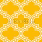Retro Morocco Yellow Seamless Vector Pattern Design