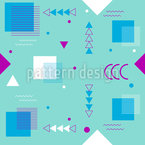 Memphis Angular Design de padrão vetorial sem costura