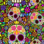Mexican Skull Vector Pattern