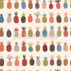 Verschiedene Ananas Nahtloses Vektormuster