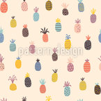 Polka Pineapples Seamless Pattern