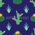開花サボテン シームレスなベクトルパターン設計