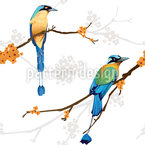 Paradiesvögel Paar Nahtloses Vektormuster