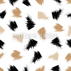 Paint Strokes Seamless Vector Pattern Design