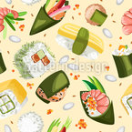 Sushi Party Seamless Vector Pattern Design