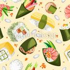 寿司パーティー シームレスなベクトルパターン設計