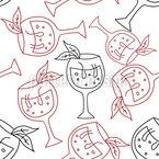 Summer Drink Seamless Vector Pattern Design