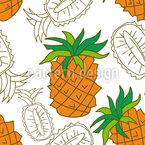Pineapple Slices Seamless Vector Pattern Design