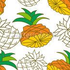 菠萝片 无缝矢量模式设计