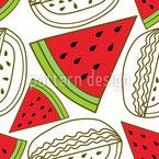 Watermelon Parts Seamless Vector Pattern Design