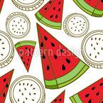 Watermelon Triangles Seamless Vector Pattern Design