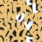 Cartas Feltro Design de padrão vetorial sem costura
