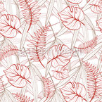 Leafed Ground Seamless Vector Pattern
