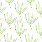 Tropical Outlines Vector Pattern