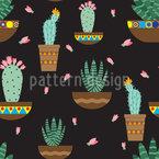 サボテンの愛 シームレスなベクトルパターン設計