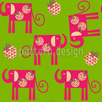 Graphical Elephants Seamless Pattern