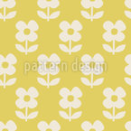 Simple Scandinavian Flowers Seamless Vector Pattern