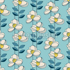 Young Retro Flowers Repeat Pattern