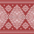 Damascos Ornamentais Design de padrão vetorial sem costura
