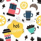 Heißer Kaffee Nahtloses Vektormuster
