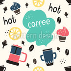 Kaffeezeit Nahtloses Vektormuster