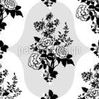 Klassische Blumen Nahtloses Vektormuster