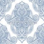 Damascos Flamboyant Design de padrão vetorial sem costura