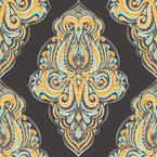 Damascos Boho Design de padrão vetorial sem costura