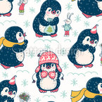 Penguin Buddys Seamless Vector Pattern Design