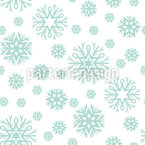 Beauty Of Snowflakes Pattern Design